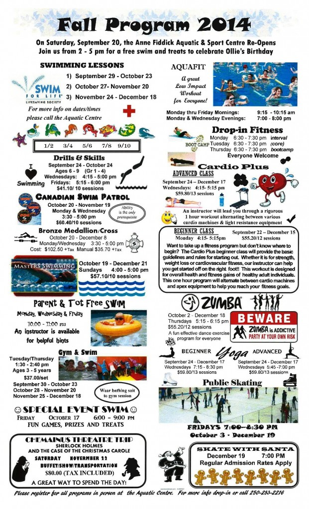 Aquatic Centre Fall programy 2014