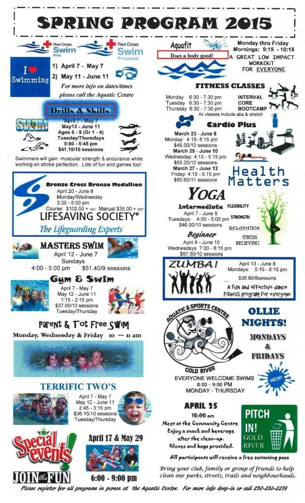 PRINTEMPS 2015 Programmes
