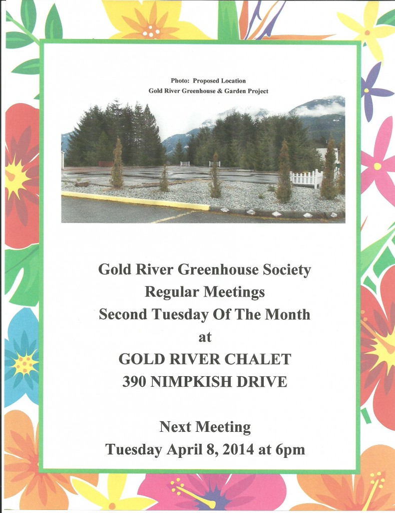 April Meeting GRGS