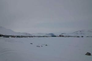 Frozen bay at Pangnirtung