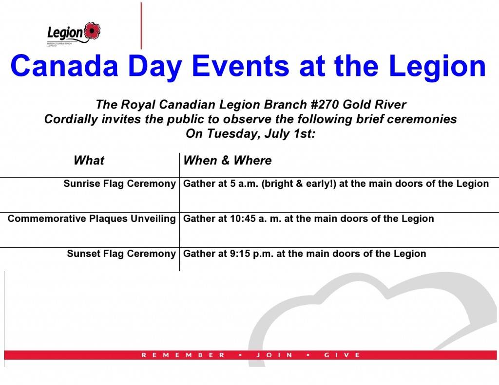Poster - July 1, 2014 Plaques Unveiling