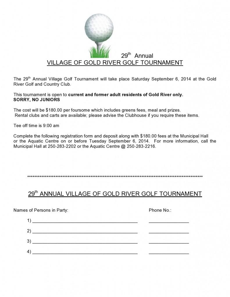 29. Ročná GR Golfový turnaj