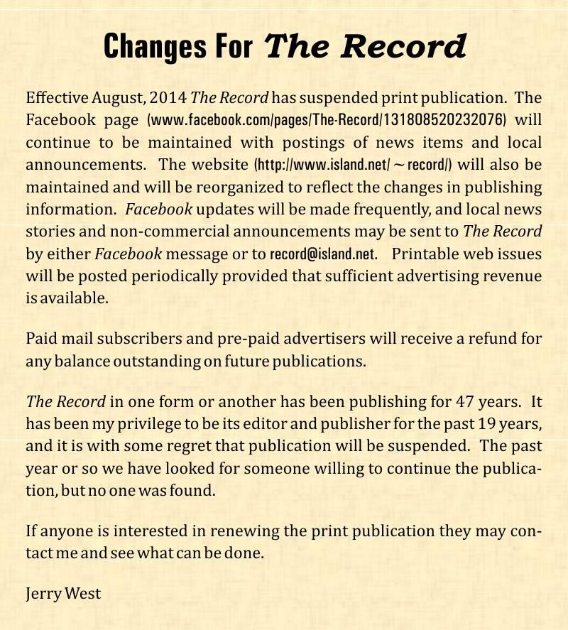 Ndryshimet për rekord