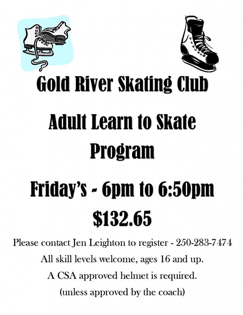 Adultes à apprendre à patiner Affiche