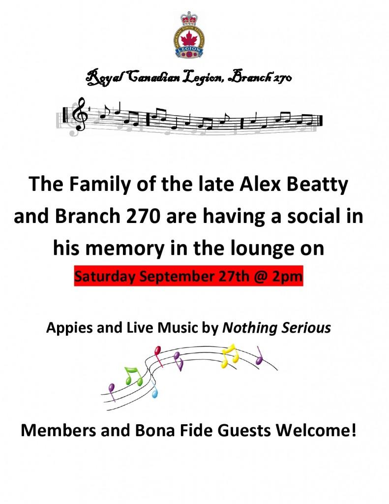 Alex Beatty Celebration