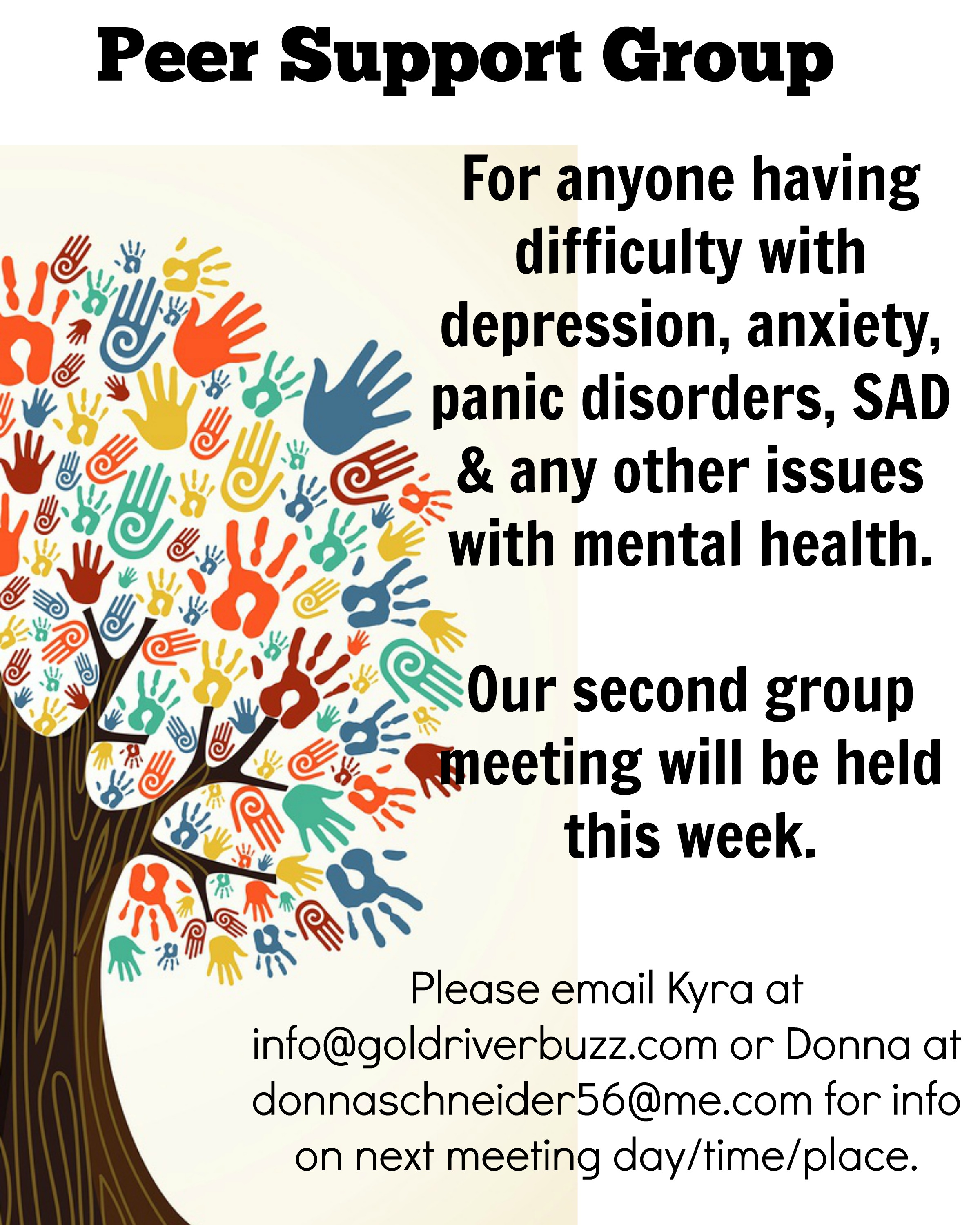 Anxiety disorders support group
