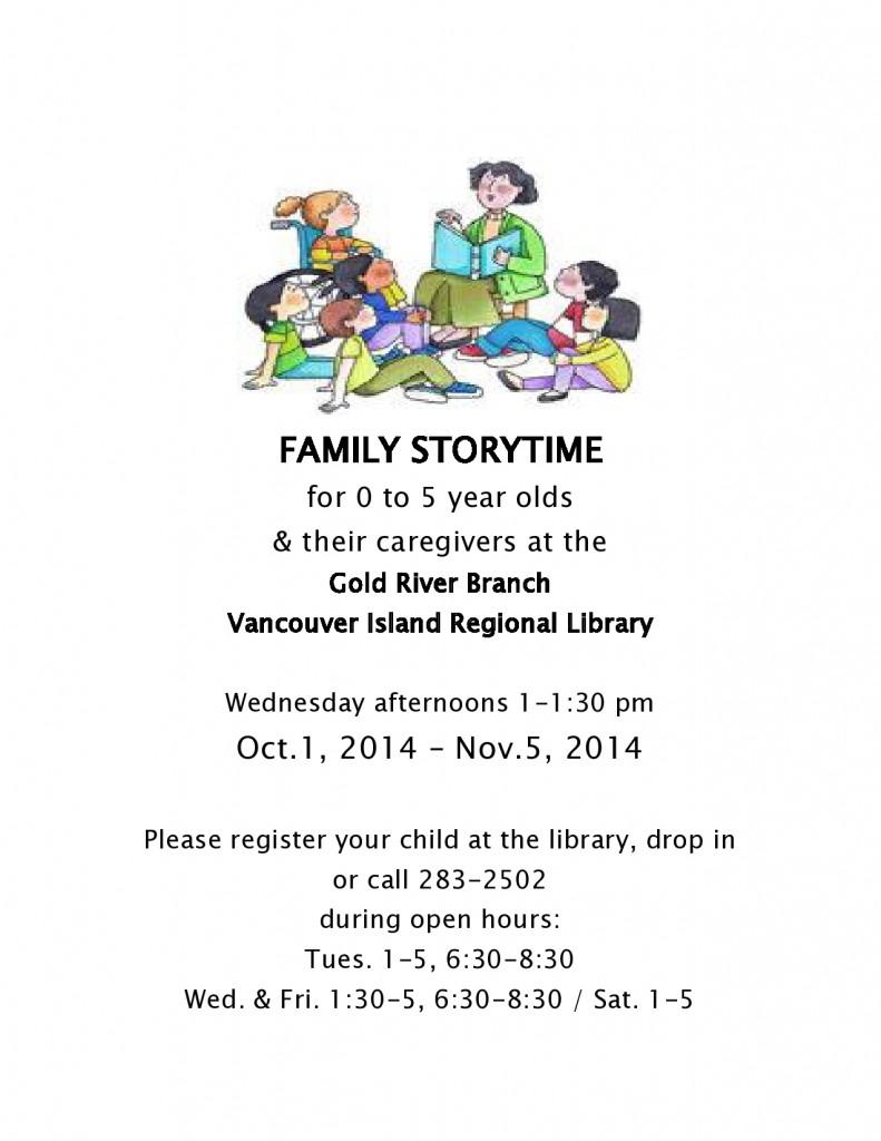 Storytime 2,014 ครอบครัว Storytime ตุลาคม-พฤศจิกายน