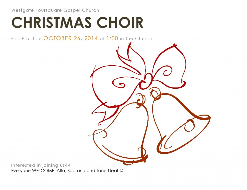 choir practice poster