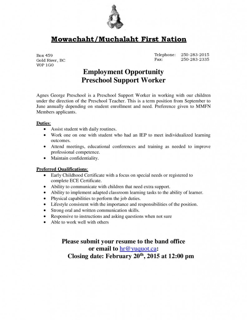 JobPosting-PreschoolSupportWorker