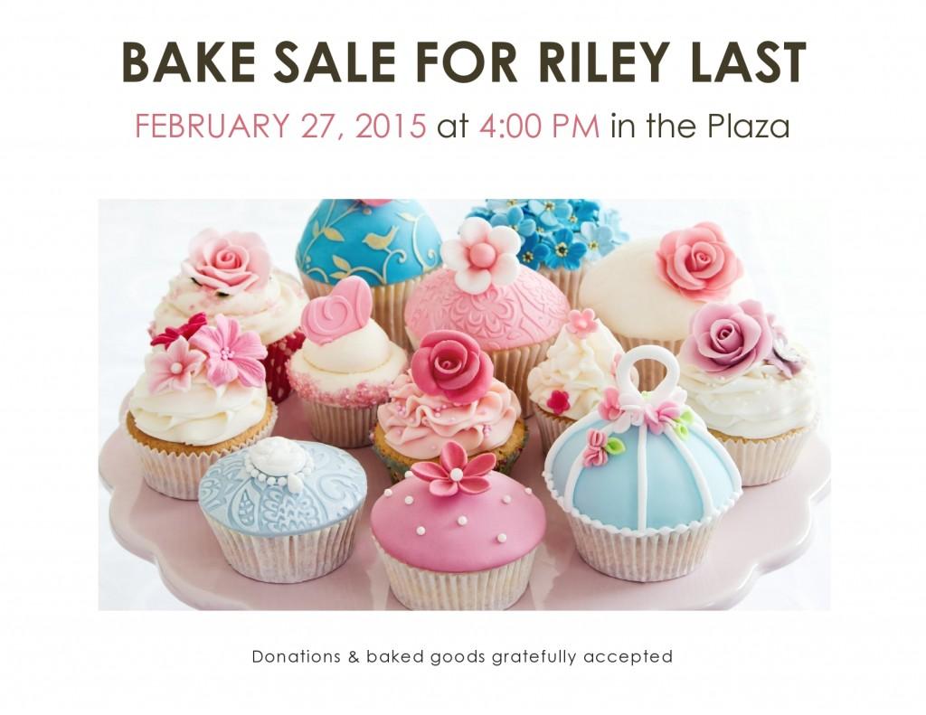 Riley Last Bake Sale