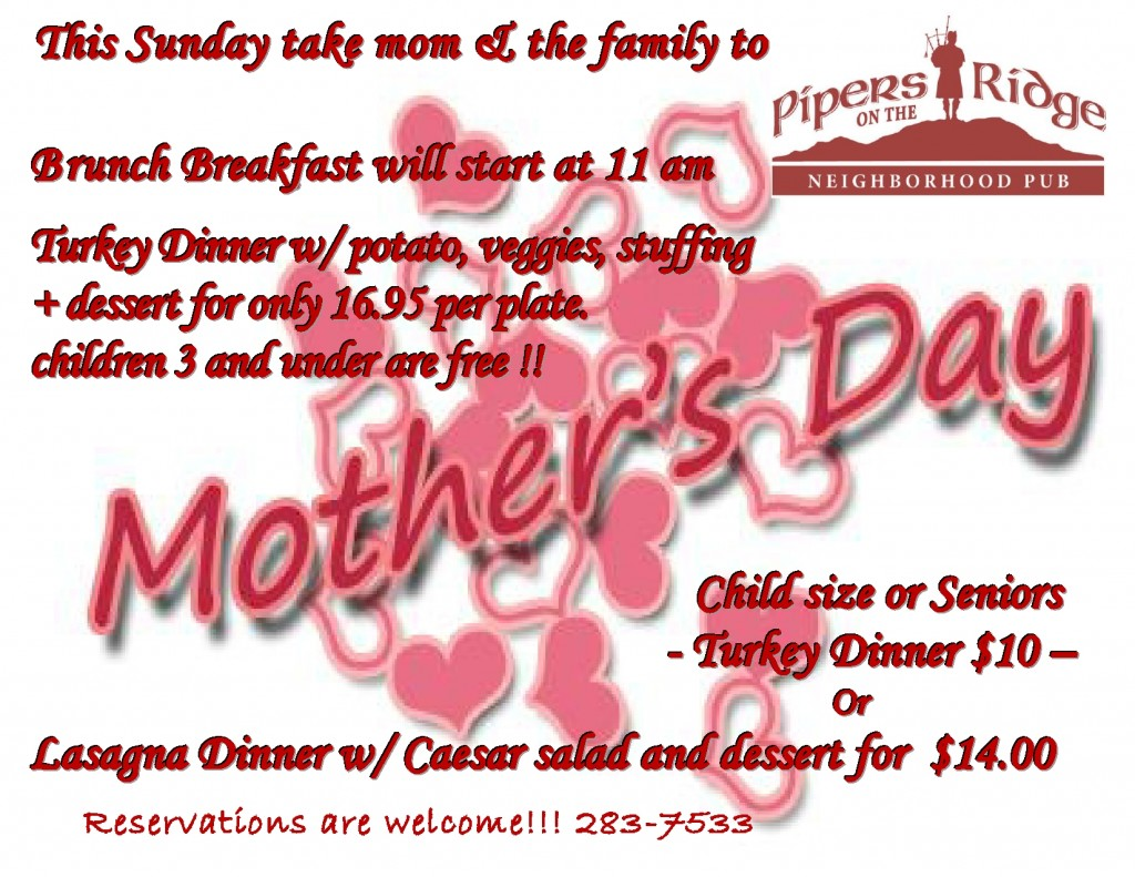 Mothers day poster Pipers