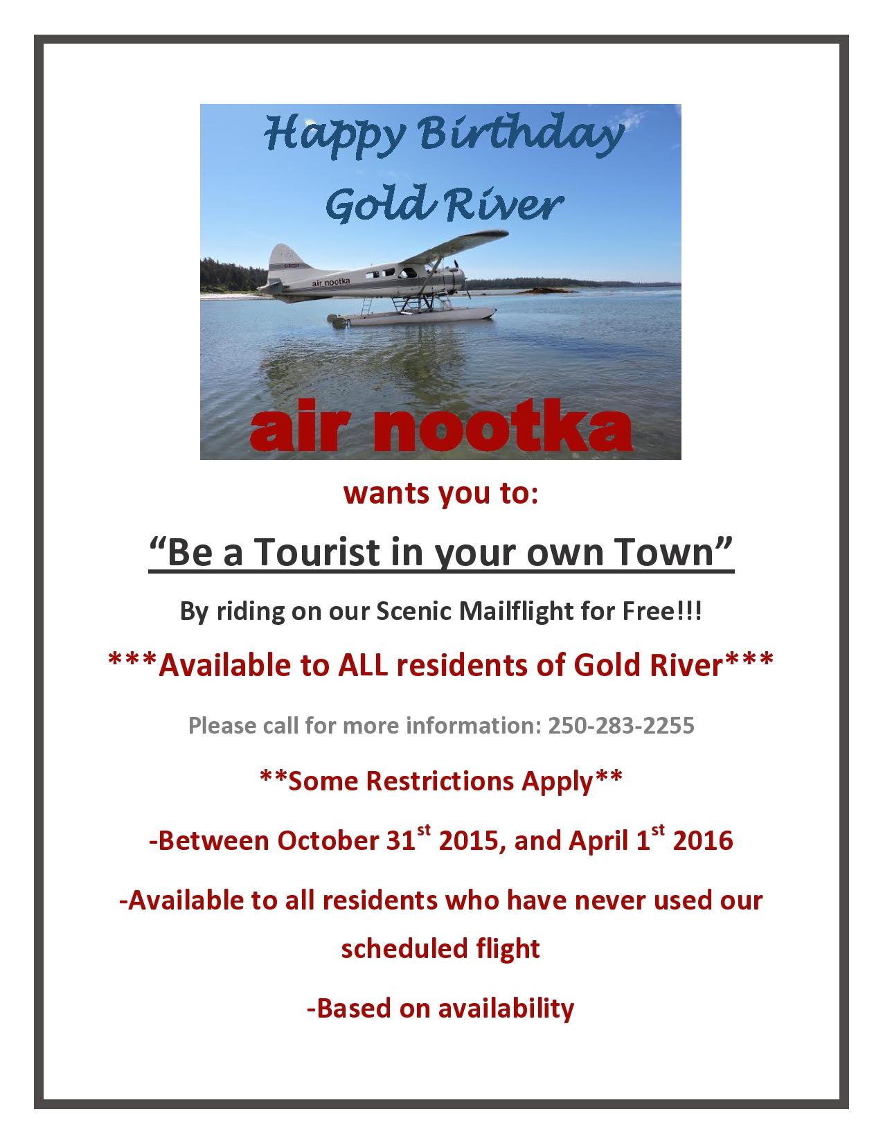 Happy Birthday Gold River!