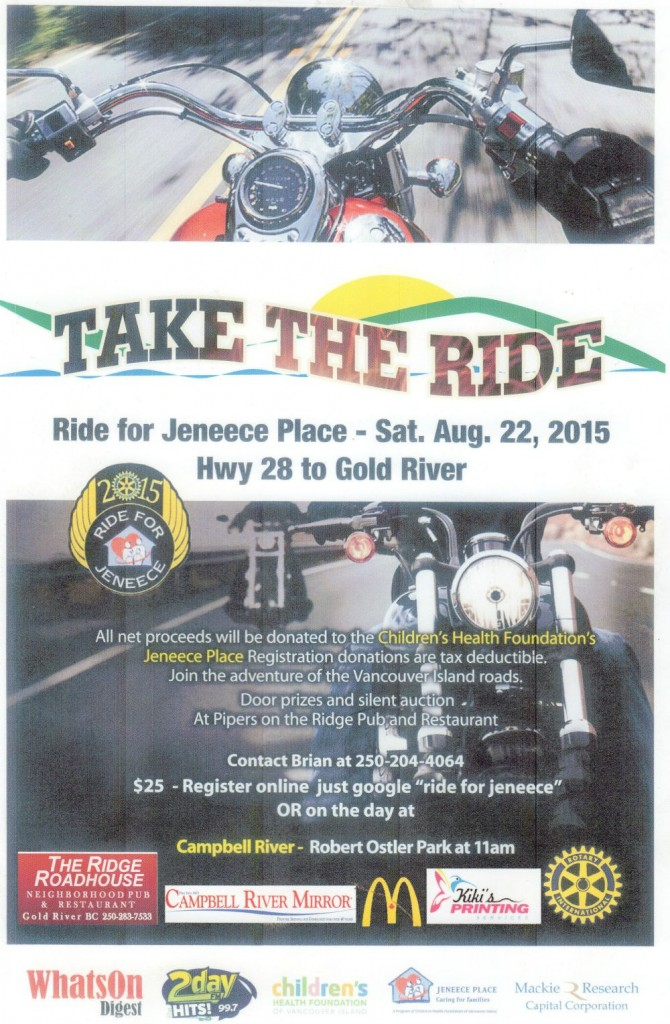 Ride for Jeneece Place