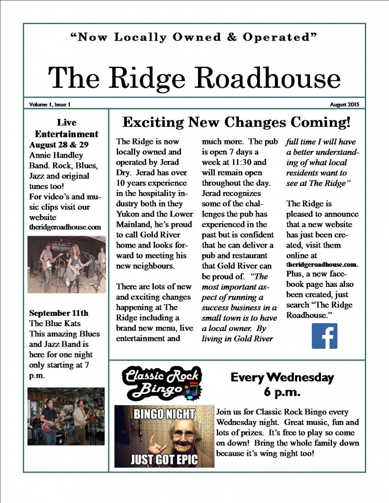 The Ridge Newsletter