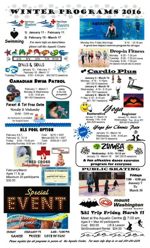 Winter 2016 Programs
