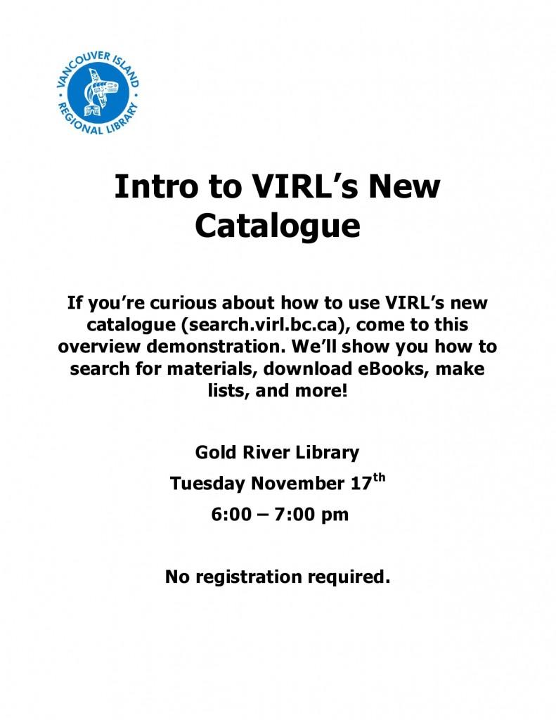 Nov.17 workshop intro to VIRL's catalogue
