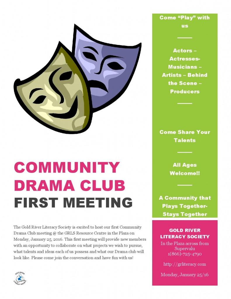 Drama Club first meeting