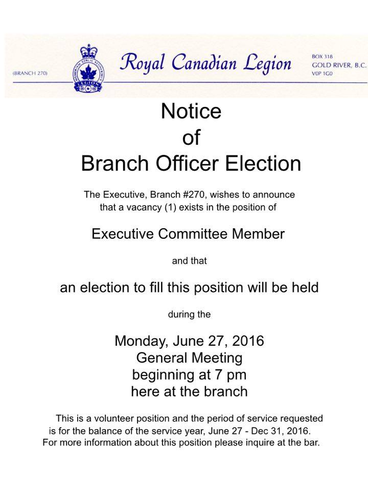 Branch Officer Election
