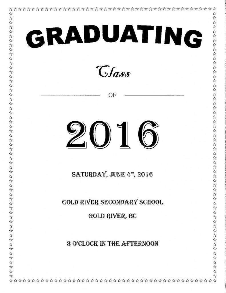 Grad 2016 Announcement