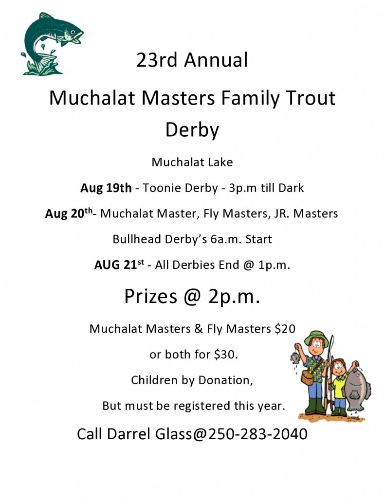 23rd Annual Muchalat Masters Trout Derby