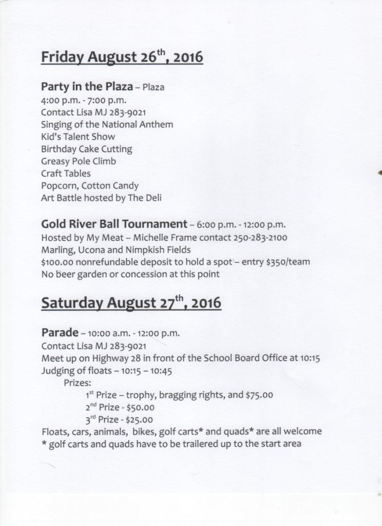 Gold River Family Days 2