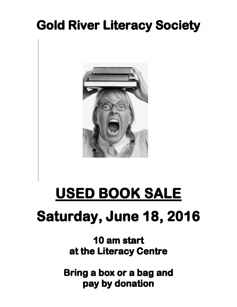 Literacy Society Book Sale poster II June 18 2016-page0001