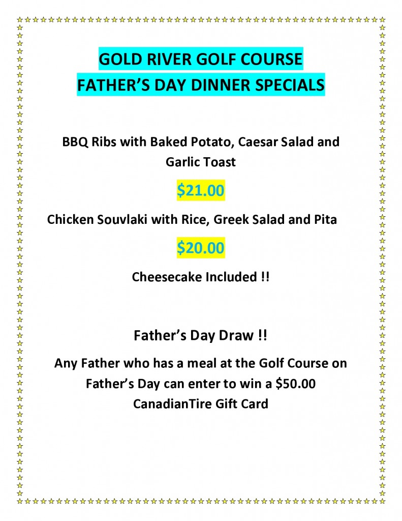 fathers day dinner specials