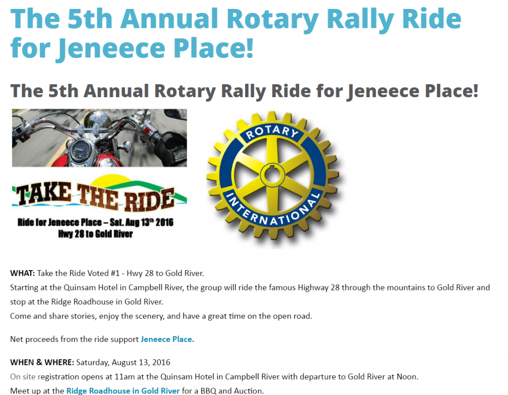 ride for jeneece 2016