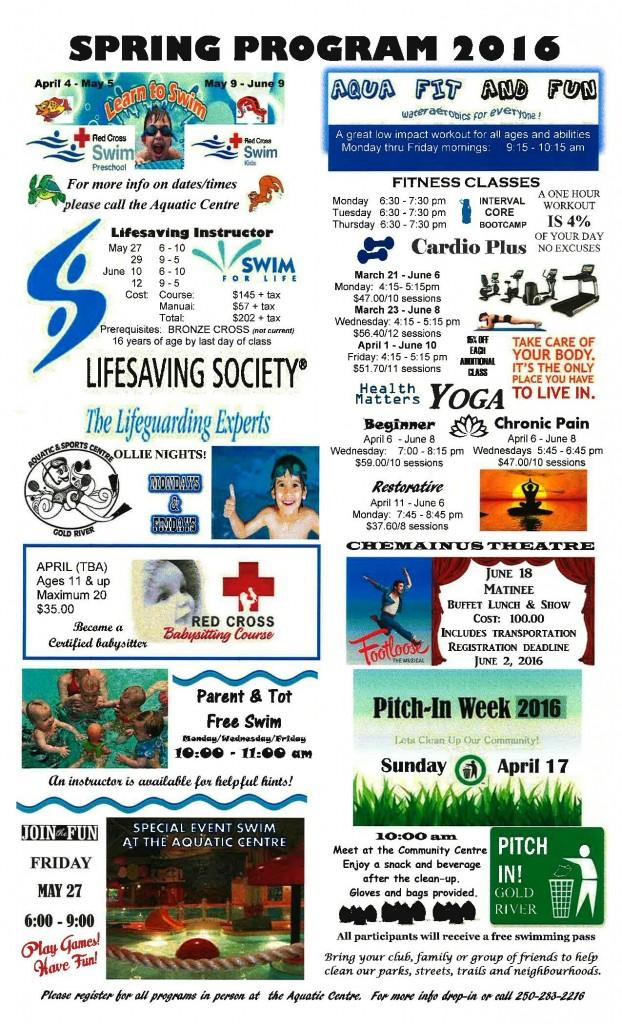 Spring 2016 Programs