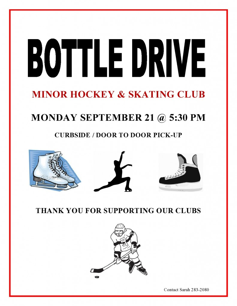 BOTTLE DRIVE-HOCKEY-SKATING