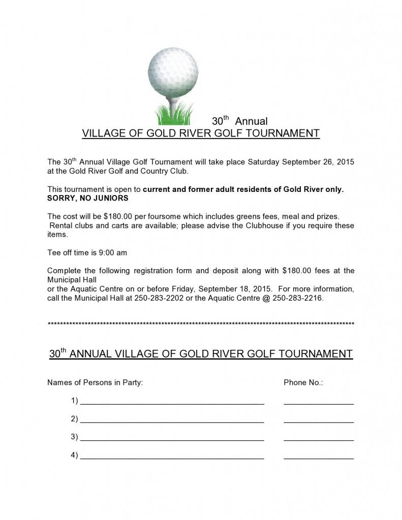 Village Golf Tournament