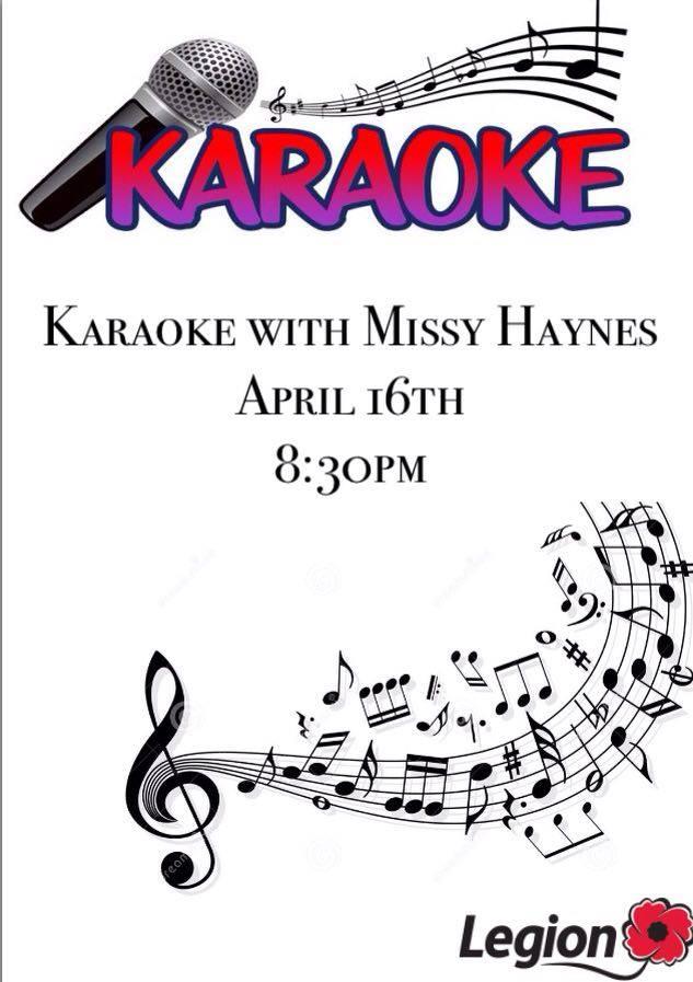 Karaoke April 16