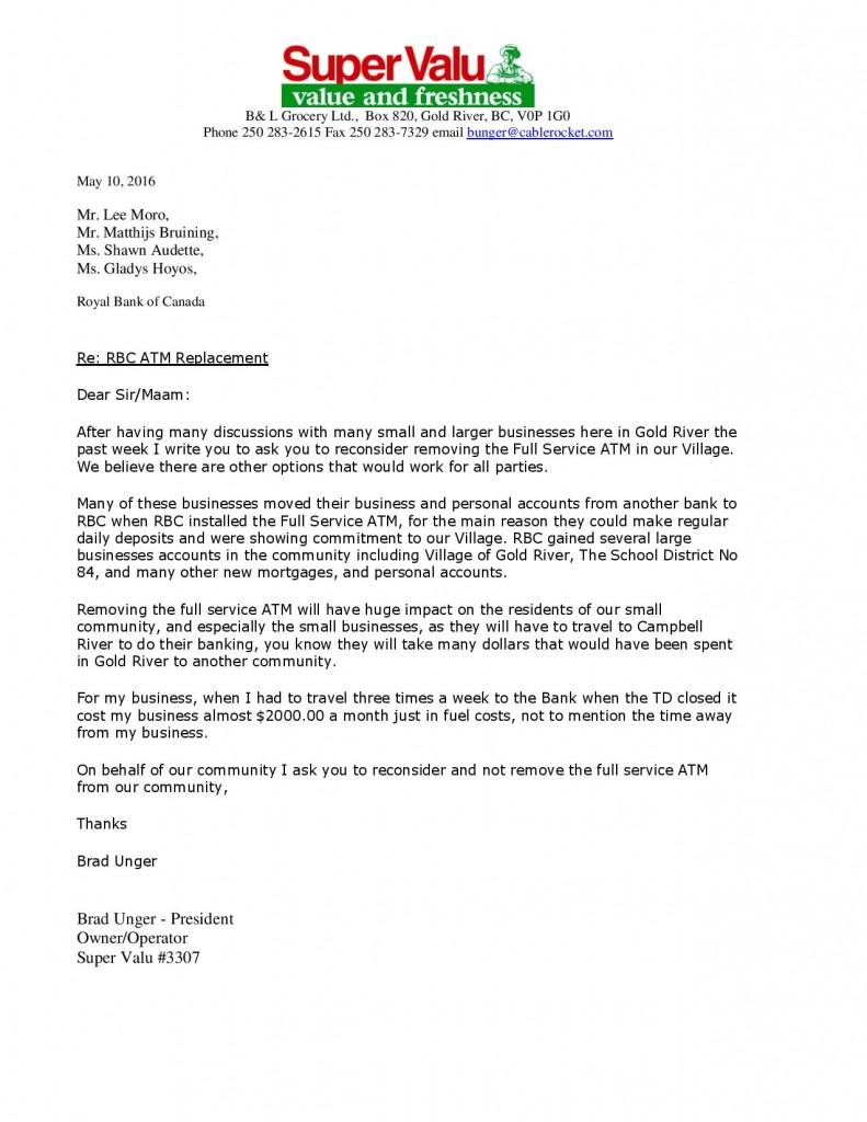 atm removal letter