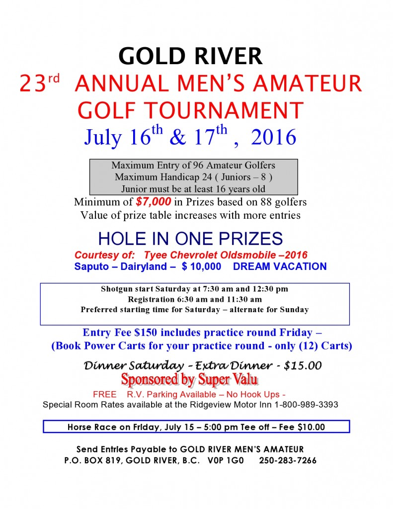 Men's Amatuer Tournament