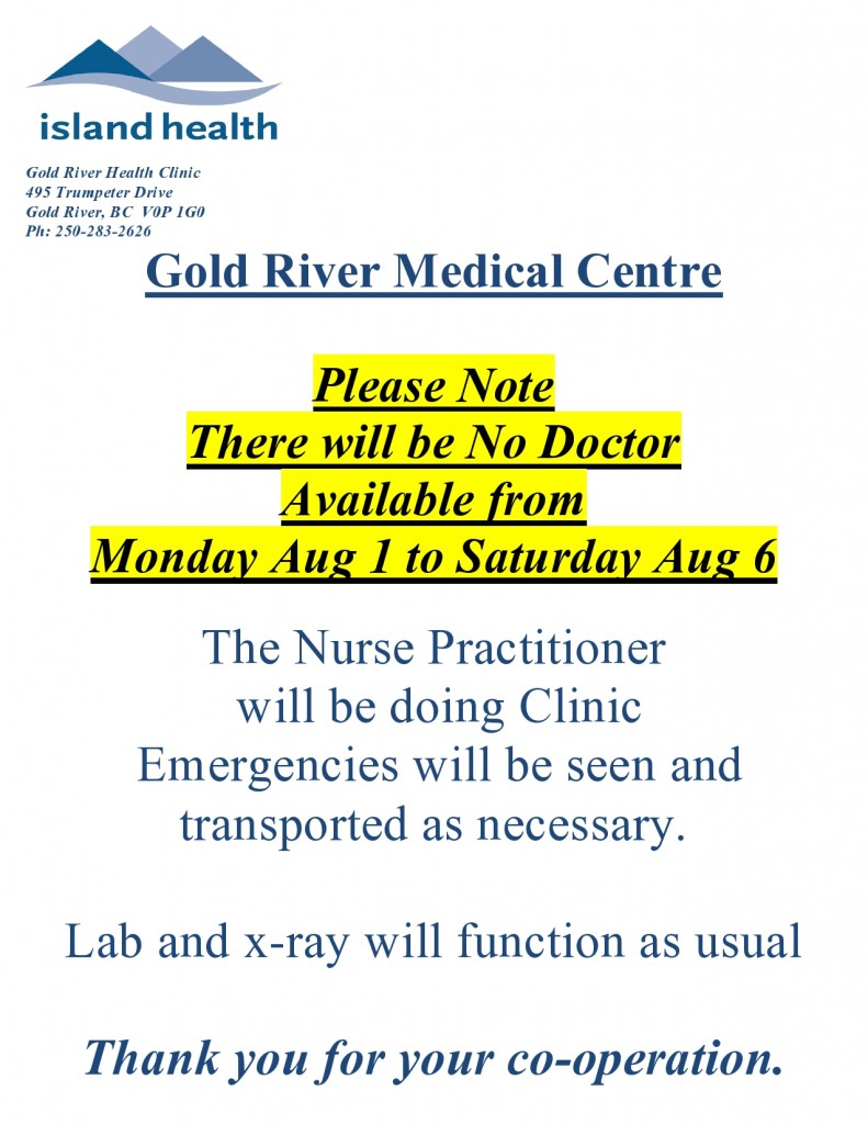 Aug 2016 no doctor notice