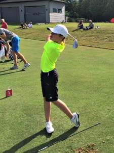 Preston golfing at Glen Abby, Ontario