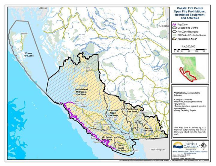 Coastal Fire Map